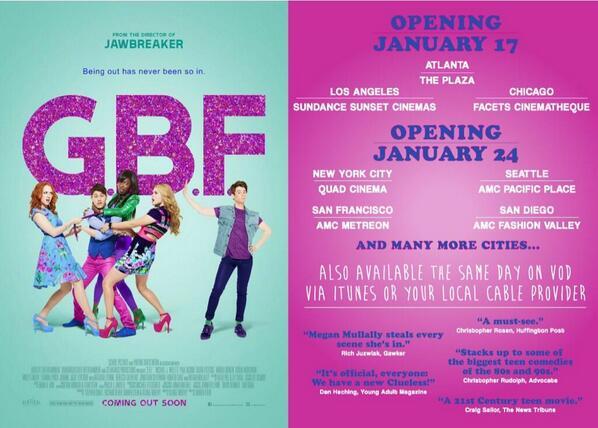 LA, ATL, Chicago: @DarrenStein's @GBFmovie in theaters tmrw night! Live in BFE, howevs? No tears, dears—VOD & @iTunes http://t.co/1yHXLAfqre
