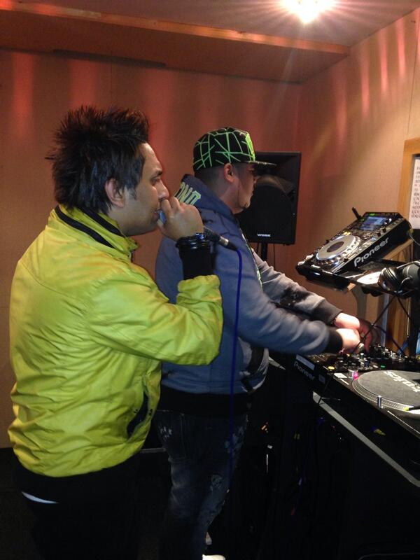 Diesel (DJ) & Figo are recording azaz kaboria @RinseFM #CairoCalling @BritishArts @BritishMusic_ full of energy http://t.co/pDc04mapzv