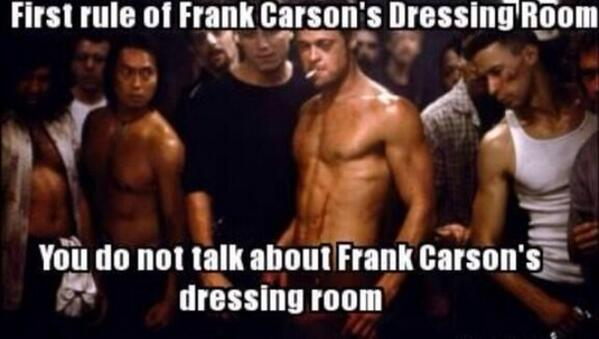 Only one rule in frank Carson's dressing room http://t.co/y24Kn2whTd