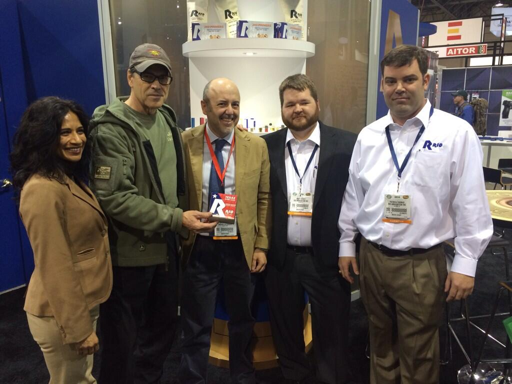 Twitter / GovernorPerry: At #shotshow2014 with Rio ...