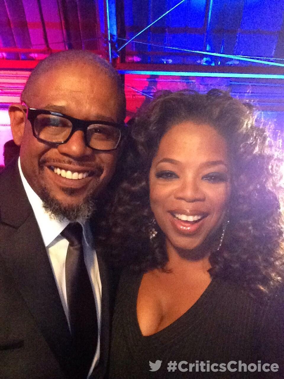 RT @peoplemag: Backstage at #CriticsChoice awards with @oprah, @ForestWhitaker http://t.co/Vl4vt9WNqK