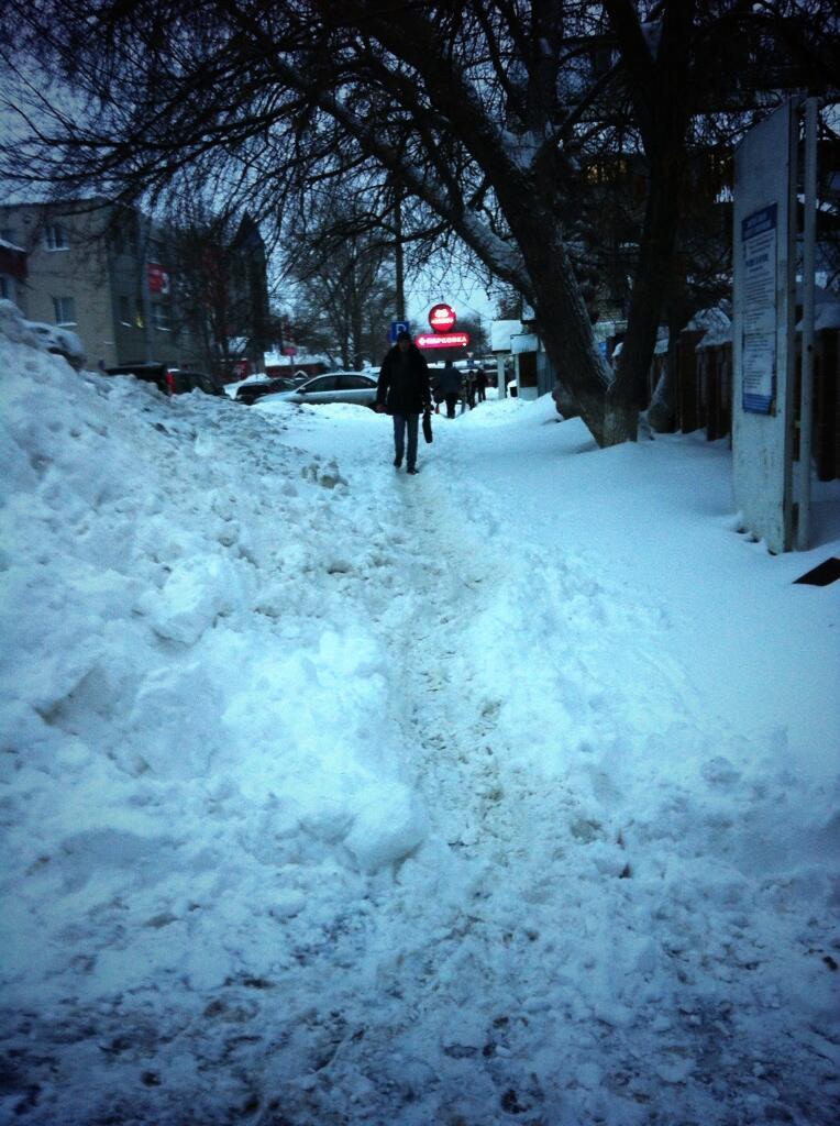 Неистовый и противоречивый самарский снег