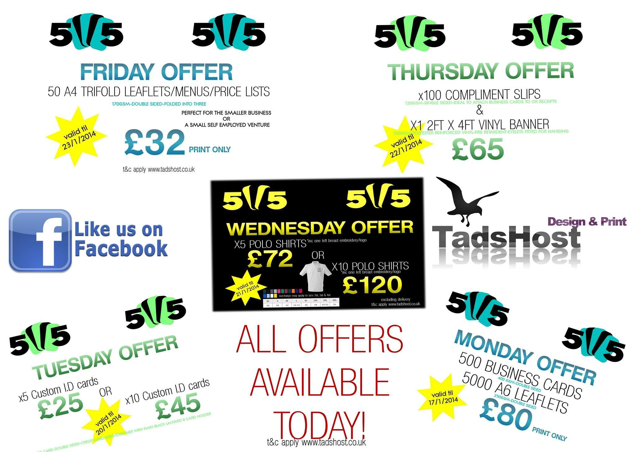 Twitter / tadshost: WOW TODAY ONLY all 5 #offers ...