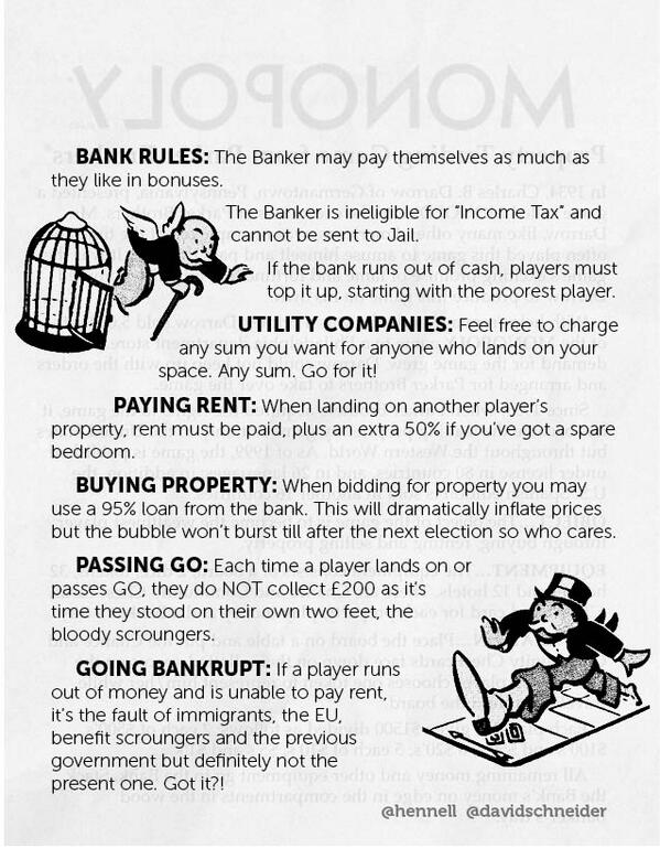 Beautiful...  Monopoly have updated some of their rules for 2013. via @davidschneider and @hennell http://t.co/WmmB6ApDrc