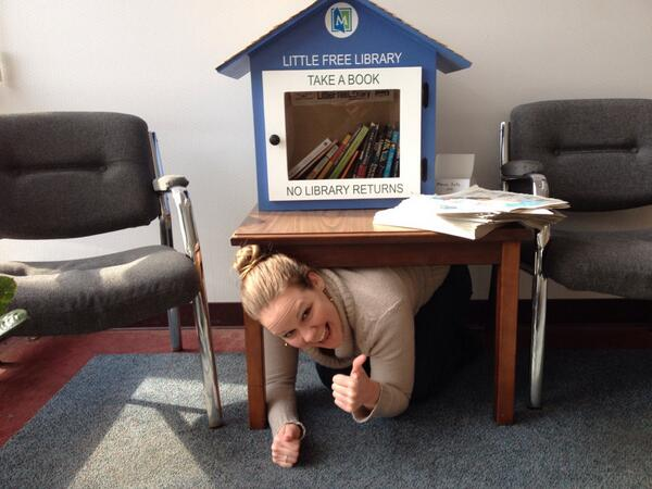 Hey guys, I'm #Riccing by our @MentorPL Little Free Library http://t.co/1e4zxc0khD