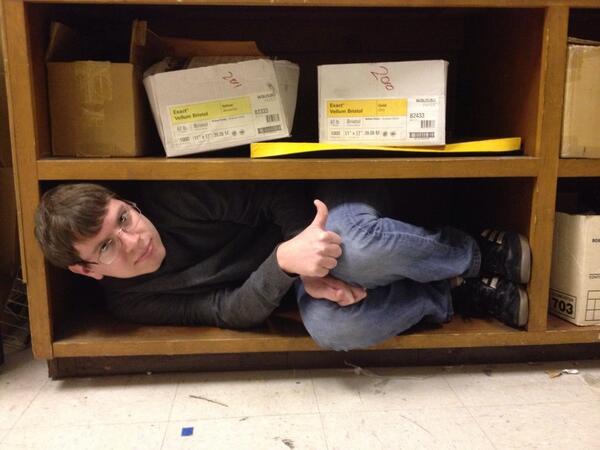 Here's @AndrewCassNH #Riccing on a shelf http://t.co/BtLwYKARjJ