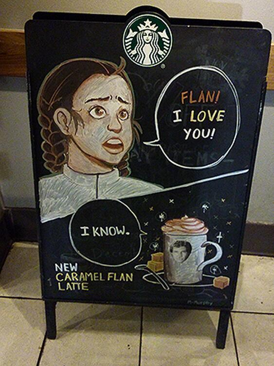 Starbucks Goes Star Wars With Princess Leia And Flan Solo http://t.co/tXkTyCoWRj http://t.co/YPfTBUIl9T
