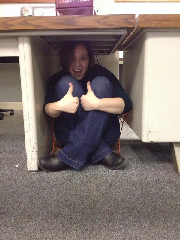 Here's @NewsHLiz #Riccing under a desk http://t.co/xDs1LT4BbE