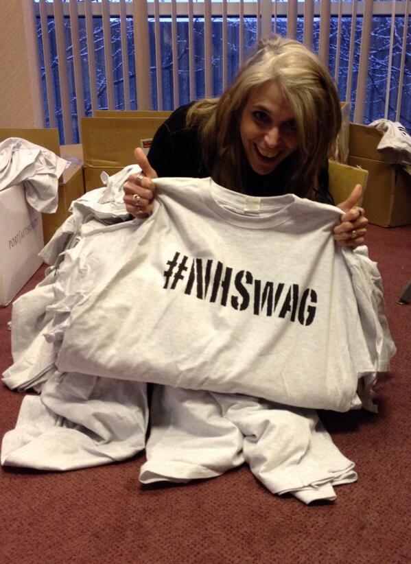Here's @triciaambrose #Riccing in a box of #nhswag http://t.co/NOg6iGM8Ga