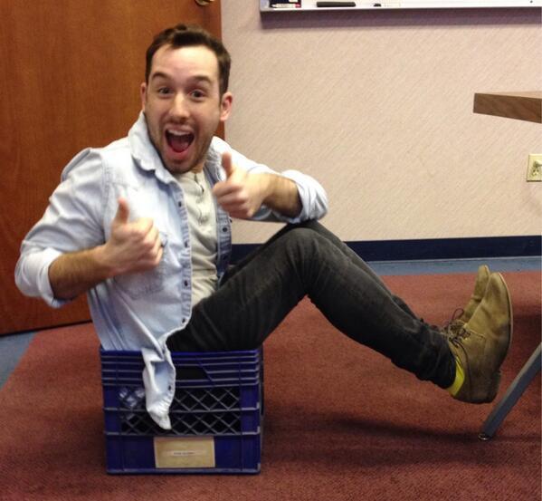 Here's @DevonTurchan #Riccing in @nhglasier's mail crate http://t.co/vK9IkZkSrH