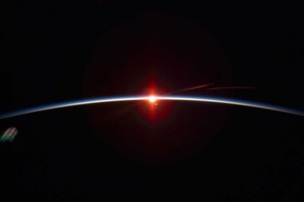 The thin pale blue line is earths #atmosphere. We depend on it to live. Don't let #BIGOIL destroy it http://t.co/gLgKi8PJWU #p2 #ows #wbos