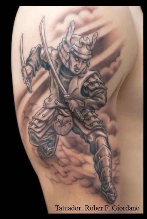 Tattoo Viper On Twitter Tatuaje De Un Samurai En El Hombro Tattoo