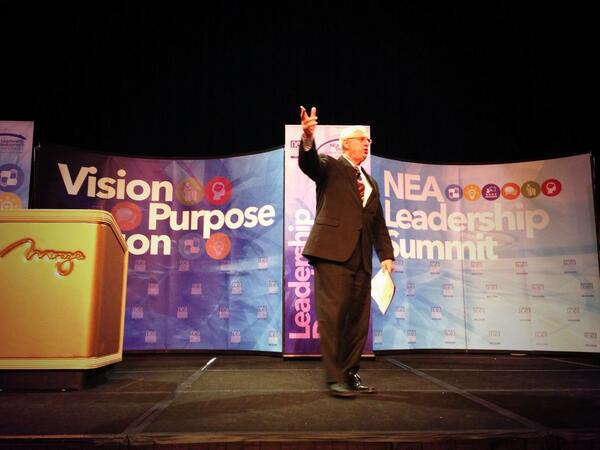 NEA President Dennis Van Roekel opens the #NEAsummit. It's time to tap in to your knowledge and passion. http://t.co/IMWRYPvPj0