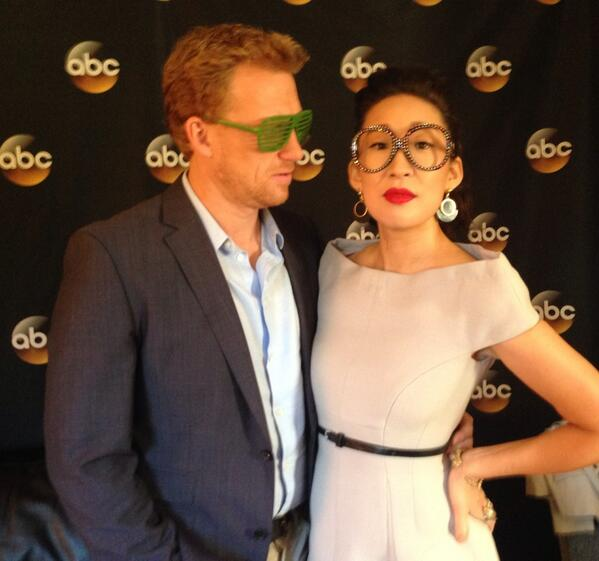 The fabulous @GreysABC cast members @IamSandraOh and @TheRealKMcKidd having some fun #ABCTCA Social Lounge. #TCA14 http://t.co/WJtS2VTPpb