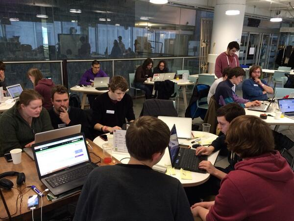 Busy busy busy hacking @foreignoffice #FCOHACK at @hubwestminster with some brilliant @youngrewired coders http://t.co/keBSU2OLlp