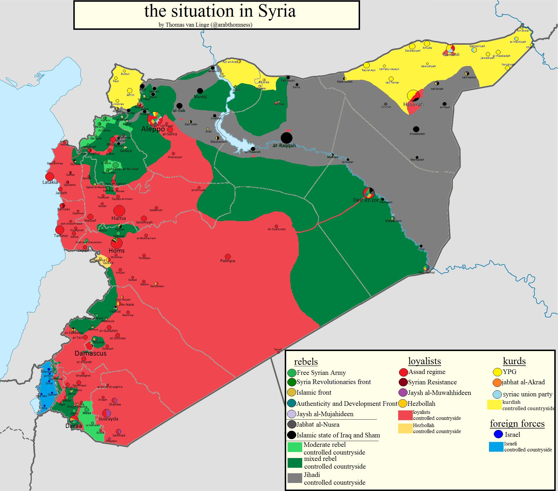 Situation des forces en Syrie