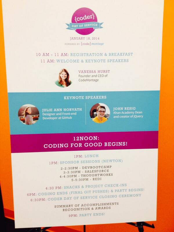 Speaker series with @nrrrdcore and @jeresig begins at 11am! #coderday http://t.co/q7cdpErq9n
