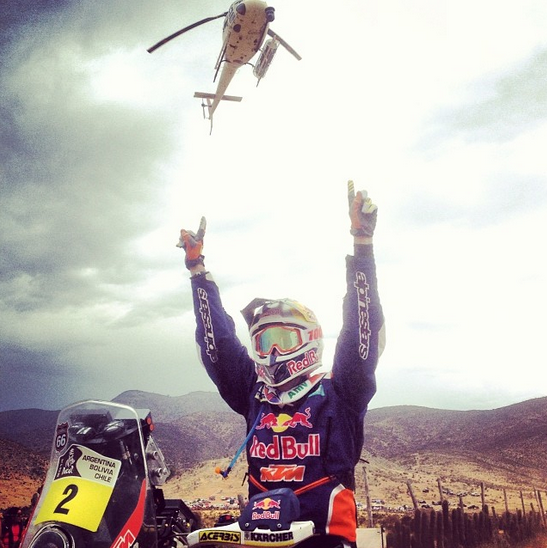 .@marc_coma wins the 2014 Dakar! it's his 4th dakar title. #dakar2014 #congrats http://t.co/AfsiBVFoBR
