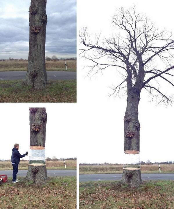 This is so damn creative... He spray painted it to give the illusion ~ #jok1 http://t.co/hT4x16ySTw