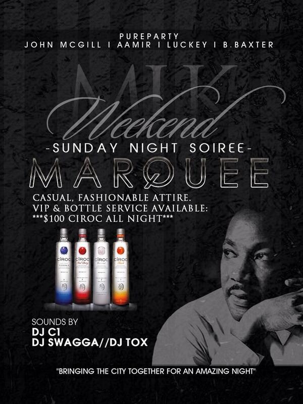 Sunday Night inside Marquee! You ready??? #MlkWeekend2014 http://t.co/o58kKbnBFy