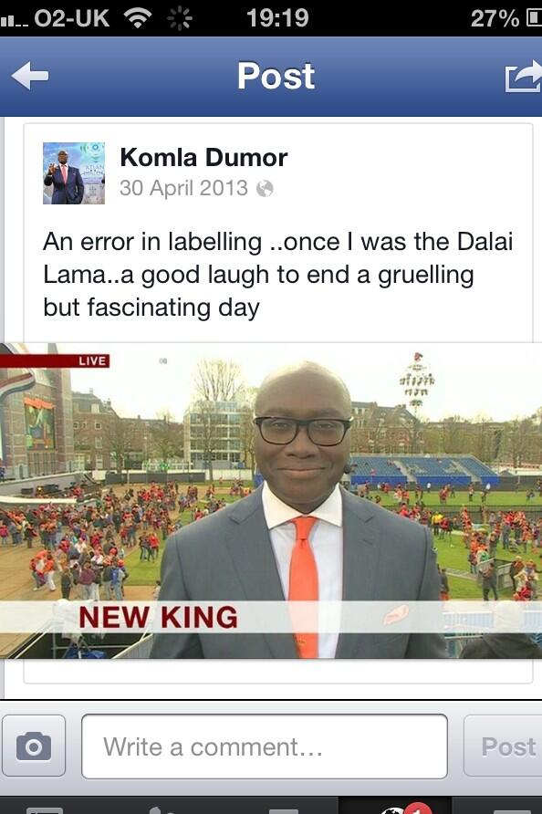This made @BBCkomladumor laugh and boy did he have a great laugh. He will be much missed. #RIPKomla http://t.co/2aua4ujUBg