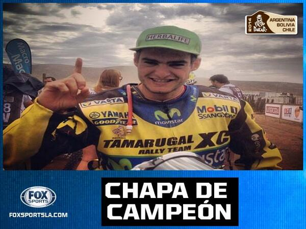 RT Explota Valparaiso. Ignacio Casale, número 1 en Quads del Dakar, llega al podio. Felicitaciones Chile. #DakarxFOX http://t.co/9DovTosKv6