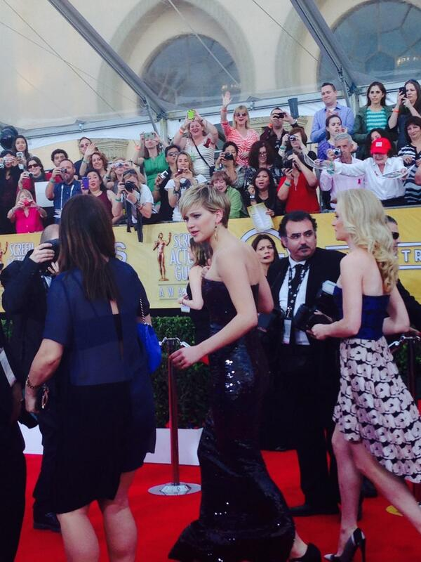 It's the belle of the Hollywood ball... Any guesses?? ;) #SAGAwards #PeopleSAG http://t.co/v1Mq1rvy2l