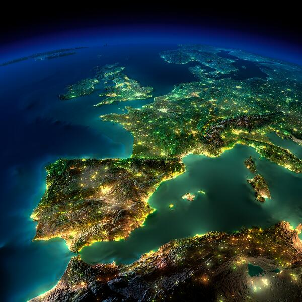 The Lights Of Europe At Night http://t.co/zS2xFPS7AY
