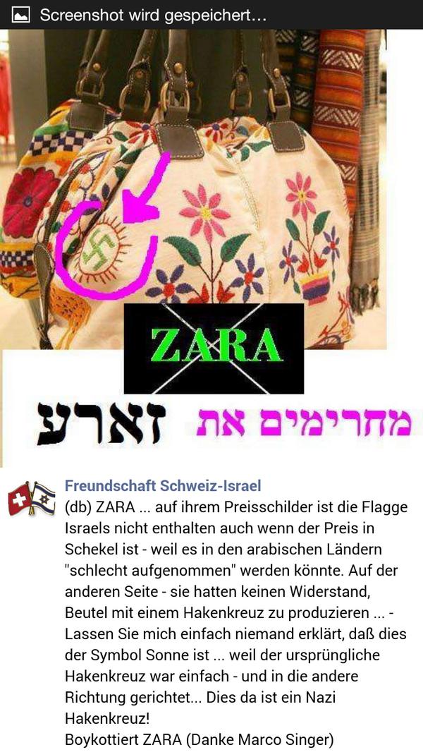 Ellen אלן Tedaldi On Twitter Hakenkreuz Auf Zara Taschen Http
