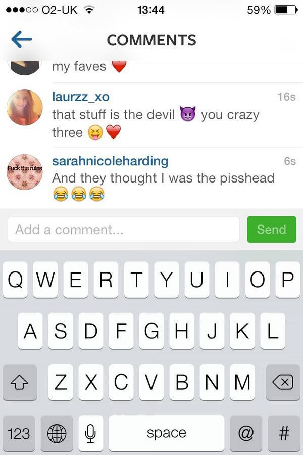"""@bethanyaloud: SARAHS COMMENT ON KIMBERLEYS PICTURE OMG LMFAO http://t.co/xe0CJ4gSWm"" hahahaha omg"