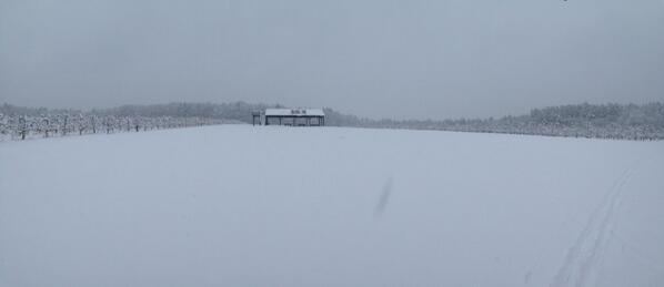 Winter panorama: Mack's U-Pick 2 on a snowy January day #NHviews http://t.co/S8HHINcL5N
