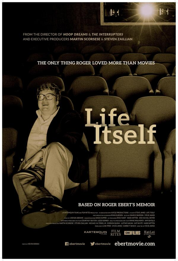 The countdown begins! The official poster for LIFE ITSELF #lifeitself #rogerebert http://t.co/U7dF1HH88l