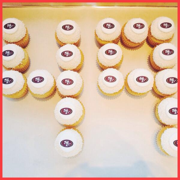 Game day is gonna be sweet! Huddle up with some #Kara'sCupcakes & watch the #49ers game #goniners  #BeatTheSeahawks http://t.co/SPS8tFM2Ud