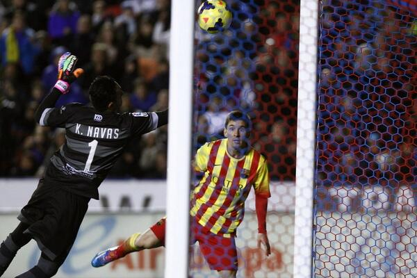 Levante pulled off an incredible triple save versus Barcelona & Lionel Messi last night