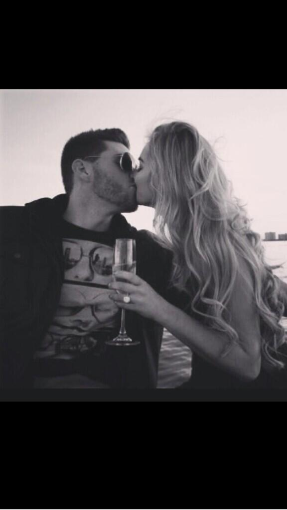 Freddie Freema's shared a snap of him kissing his then-girlfriend, Chelsea Goff who flashes her engagement ring