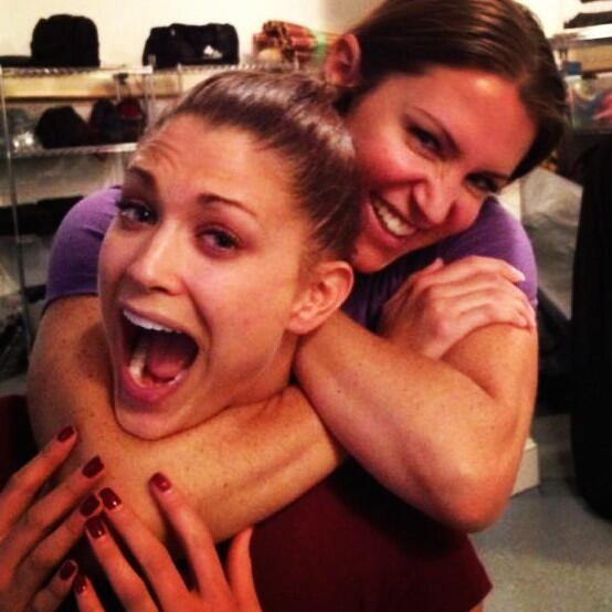 Stephanie Mcmahon And Eve Torres
