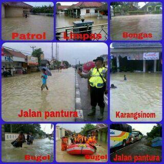 Banjir di berbagai wilayah Indramayu 2014