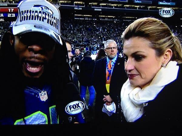 "Can't you just hear @ErinAndrews thinking to herself, ""This muthaf'er right here..."" http://t.co/tfa7Inyrfu"