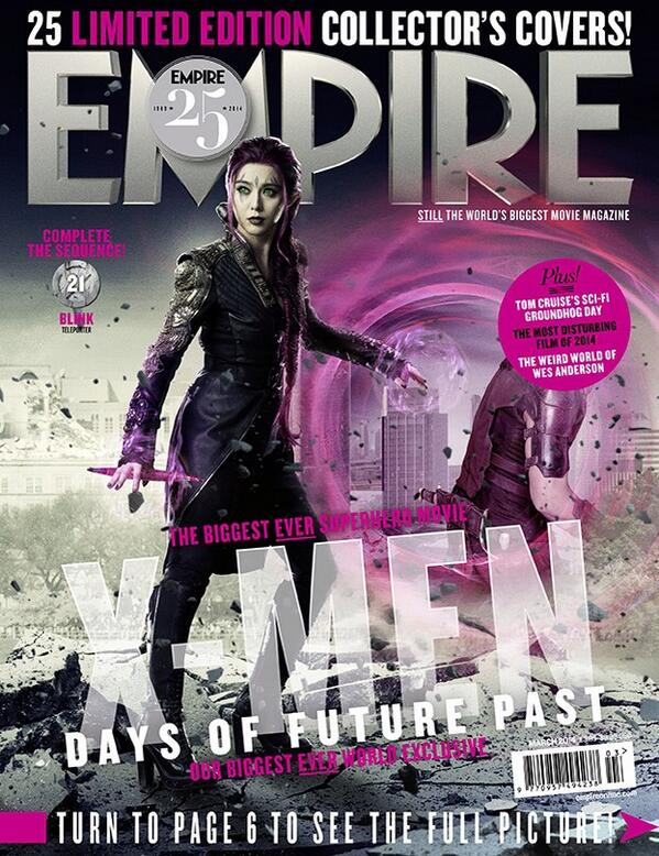 Fan Bingbing joins the #XMen cast as Blink, a new mutant capable of creating teleportation portals. New #Empire25! http://t.co/twAcreeN3q