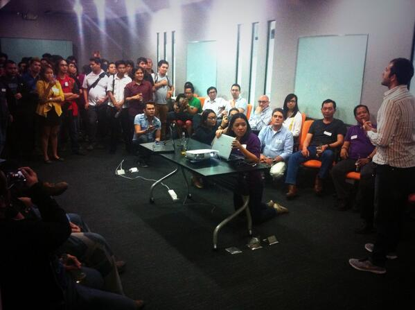Full house for tonight's @HackerNest Tech Socials. Thank you guys for dropping by the office! #HackerNestMNL http://t.co/PYYpm4YxmL