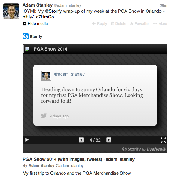 Didn't know that @Storify now embeds in Twitter timelines. Very cool. http://t.co/WXXqz6ZDdO