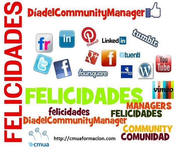 ¡Feliz Día Internacional del #CommunityManager! http://t.co/pFTRPxPVfk #cmua #SocialMedia #RedesSociales http://t.co/HtAHFa1Xcw