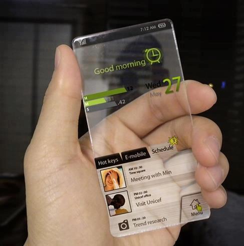 透明になった近未来のスマートフォン pic.twitter.com/Mvu63D8DEa