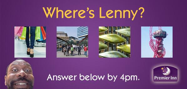 Where's Lenny? Comment below using the hashtag #GoodNightGuarantee before 4pm for your chance to win a two night stay http://t.co/2lZKsCnpLa