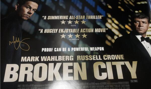 #BrokenCity on Instant: http://t.co/kHvX3hRzED We have 2 posters signed by Mark Wahlberg up for grabs. RT to win! http://t.co/k7mCF9s8Kd