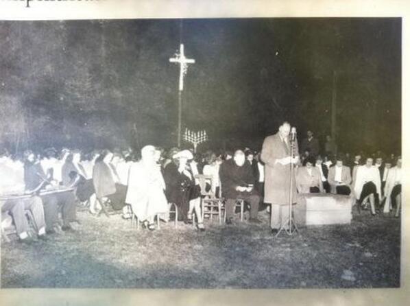 Bob Jones Sr and Strom Thurmond had their own Easter Sunrise Service on their own mountain, circa 1948 #MLKDay2014 http://t.co/TzOfj9aYYd