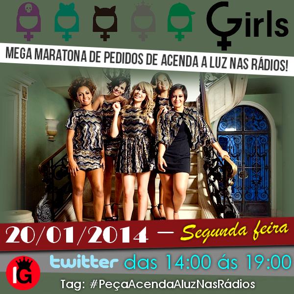 Gentee tinha esquecido completamente HOJE (20/01) às 14:00! #PeçaAcendaAluzNasRádios #RT @nataschagirls #GirlsOficial pic.twitter.com/xgbxYNAMGc