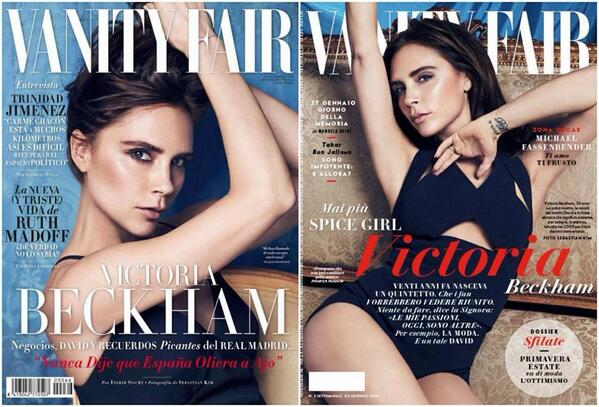 Victoria Beckham on the cover of 'vanity fair' Spain and Italy http://t.co/dHqFT9XMCH
