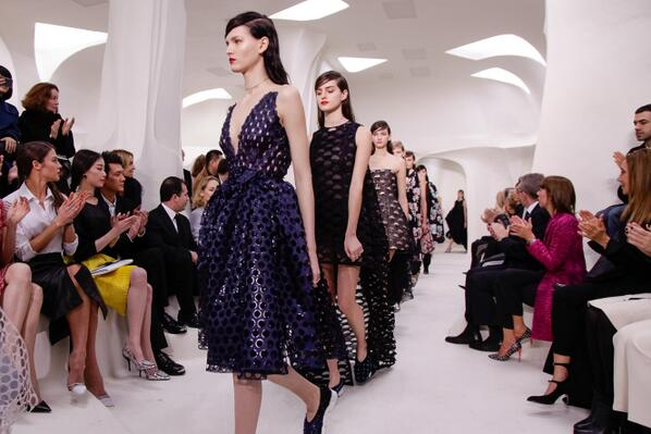 Dior Haute Couture SS14 final! Silhouettes unveiled at the show in Paris on http://t.co/2jJopYm9Zu #Dior #PFW http://t.co/uXOvE5XCuj
