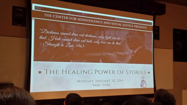 Healing Power of Stories, CNVSJ #MLKDay #DayofService